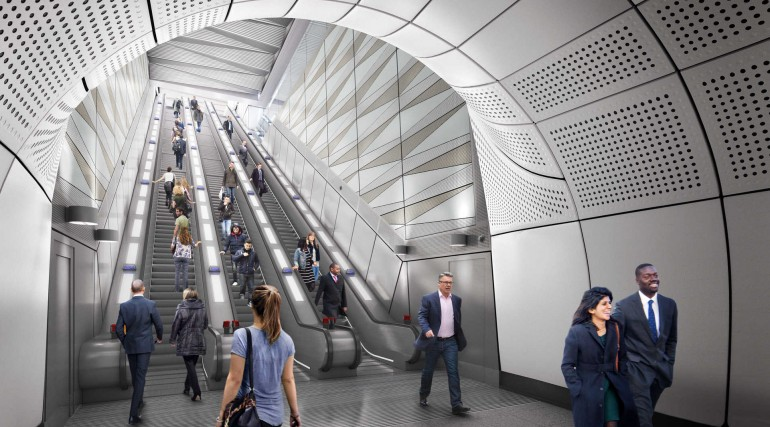05 Liverpool Street station - proposed escalator at Moorgate ticket hall_236006
